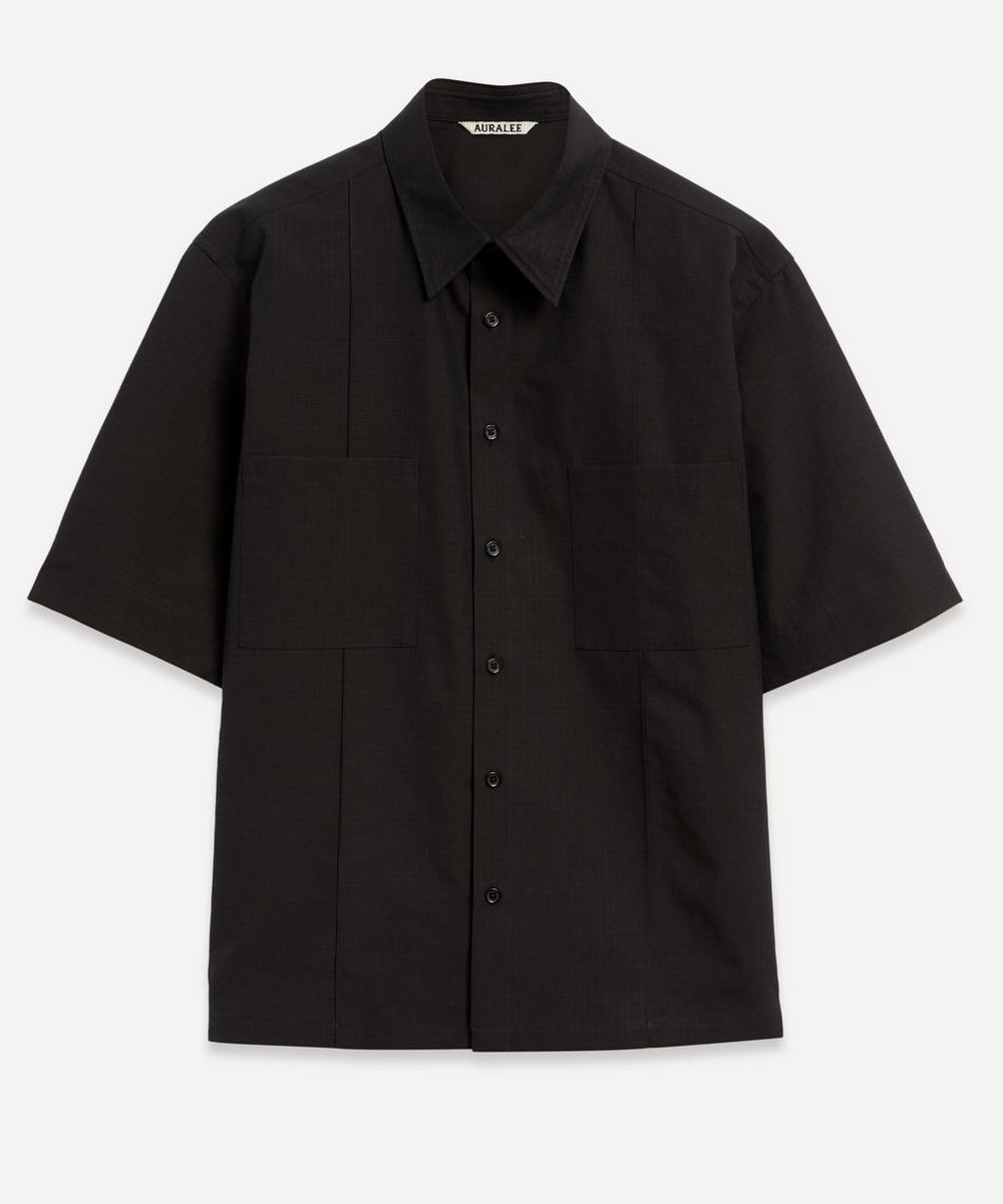 Auralee - Washed Finx Ripstop Chambray Half-Sleeve Shirt