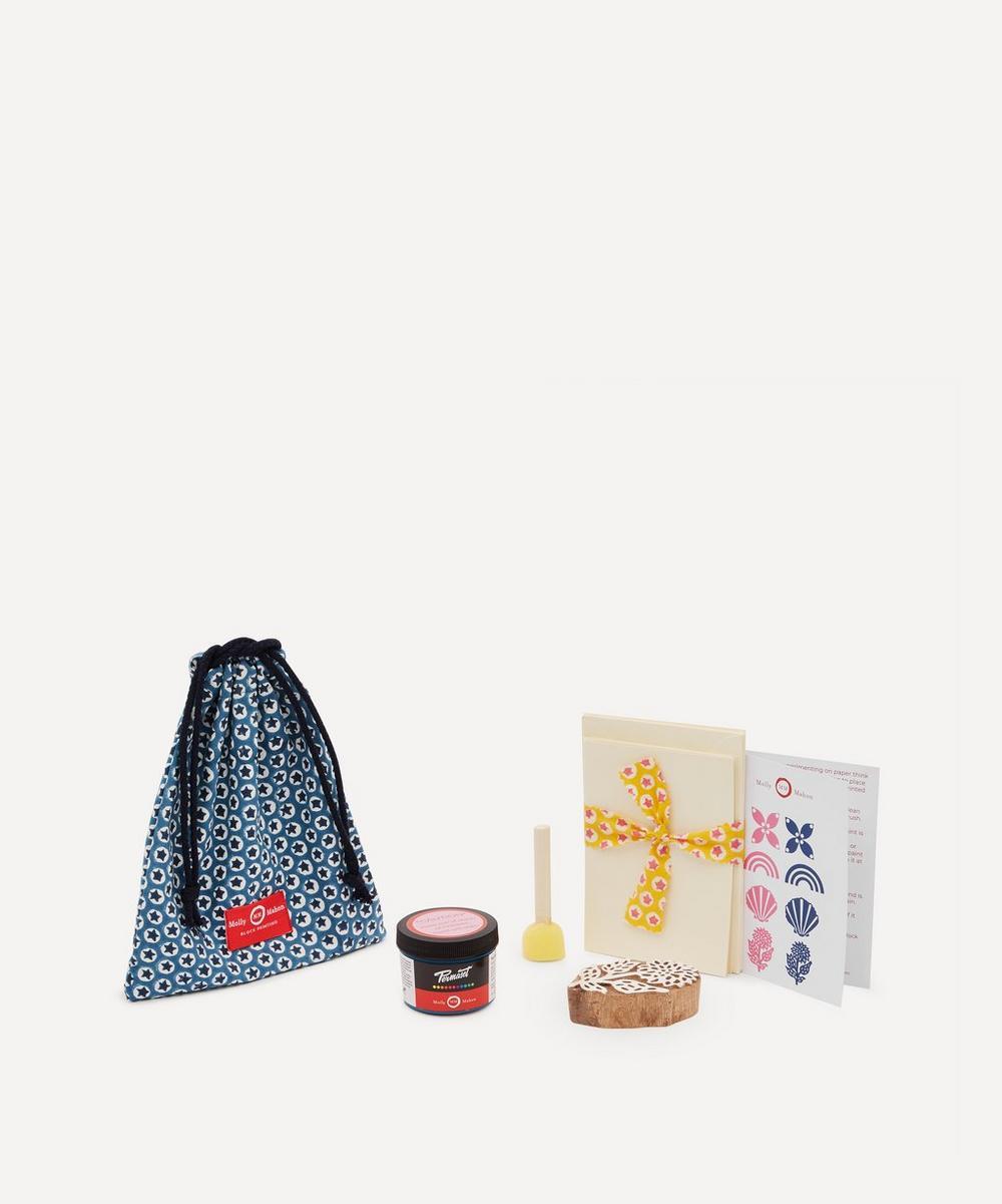 Molly Mahon - Card Block Print Kit Flower Indigo