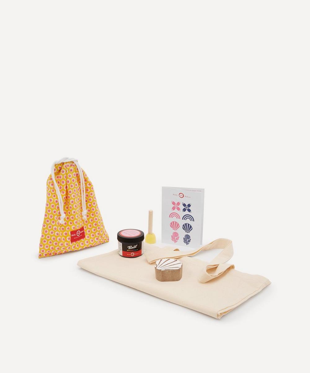 Molly Mahon - Tote Block Print Kit Shell Indigo