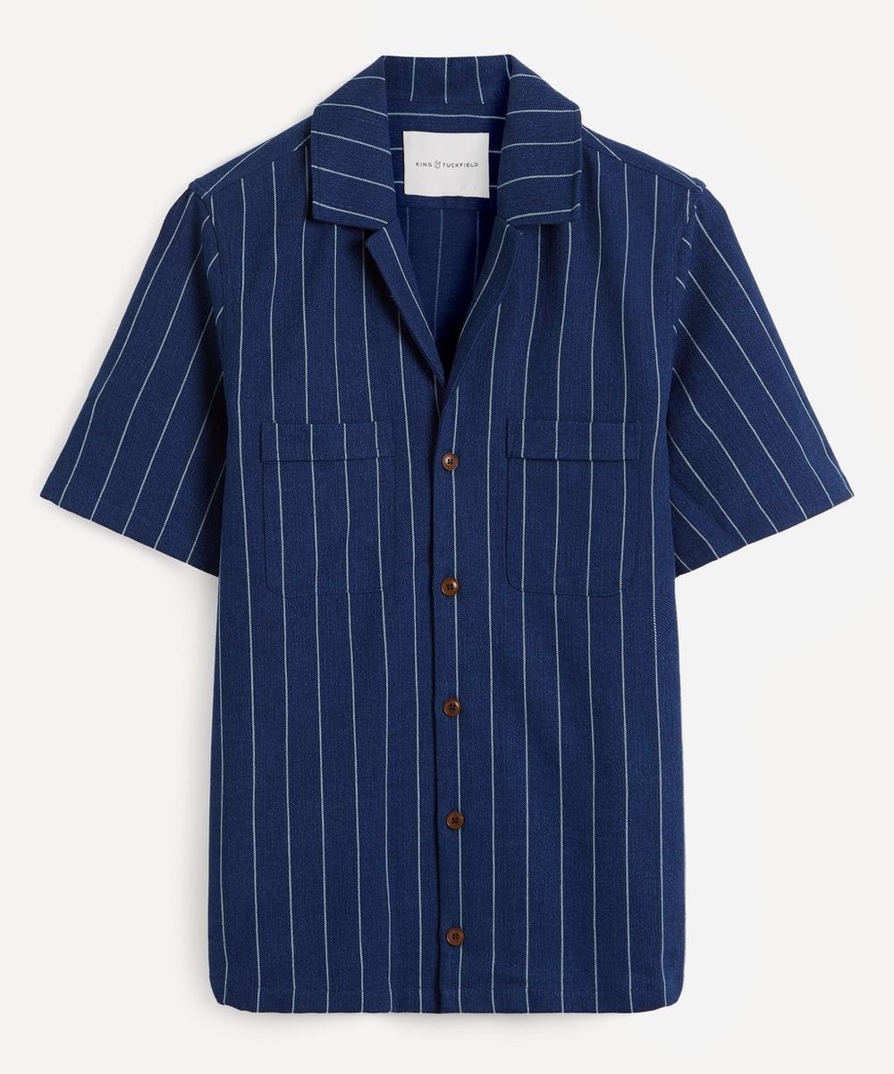 King & Tuckfield - Pinstripe Chambray Bowling Shirt