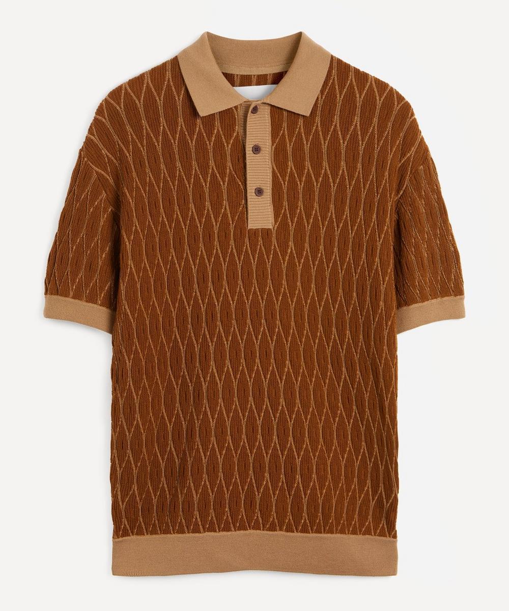 King & Tuckfield - Textured Merino Wool Polo-Shirt
