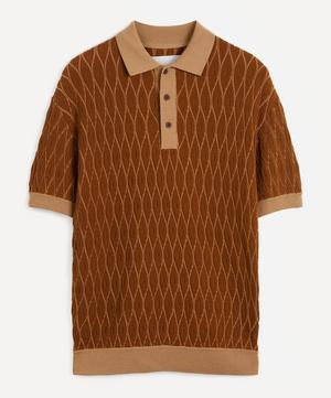 Textured Merino Wool Polo-Shirt