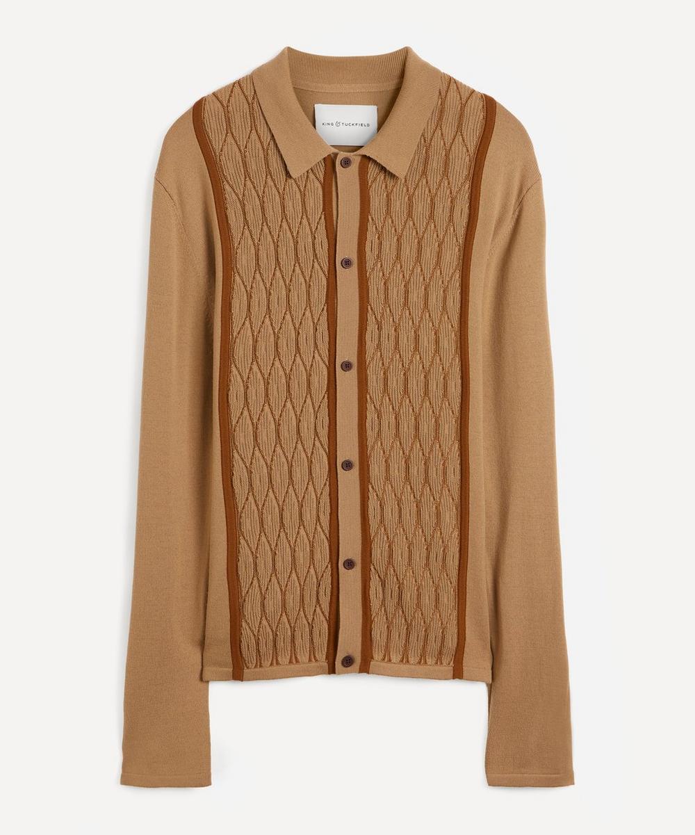 King & Tuckfield - ZigZag Weave Merino Wool Shirt