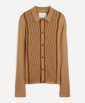 ZigZag Weave Merino Wool Shirt