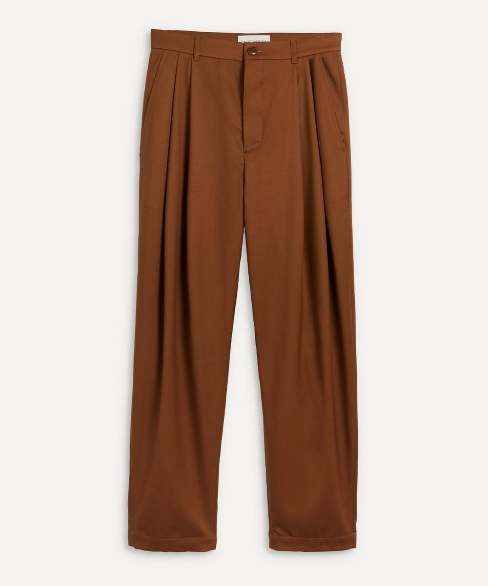King & Tuckfield - Tapered Pleated Wool Trousers