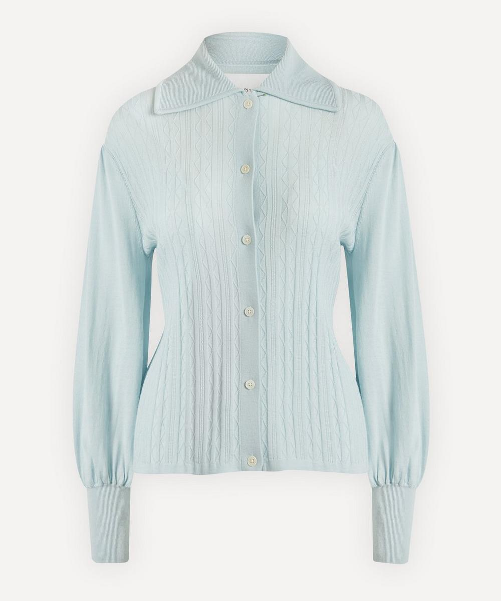 King & Tuckfield - Bell-Sleeve Merino Wool Knit Shirt