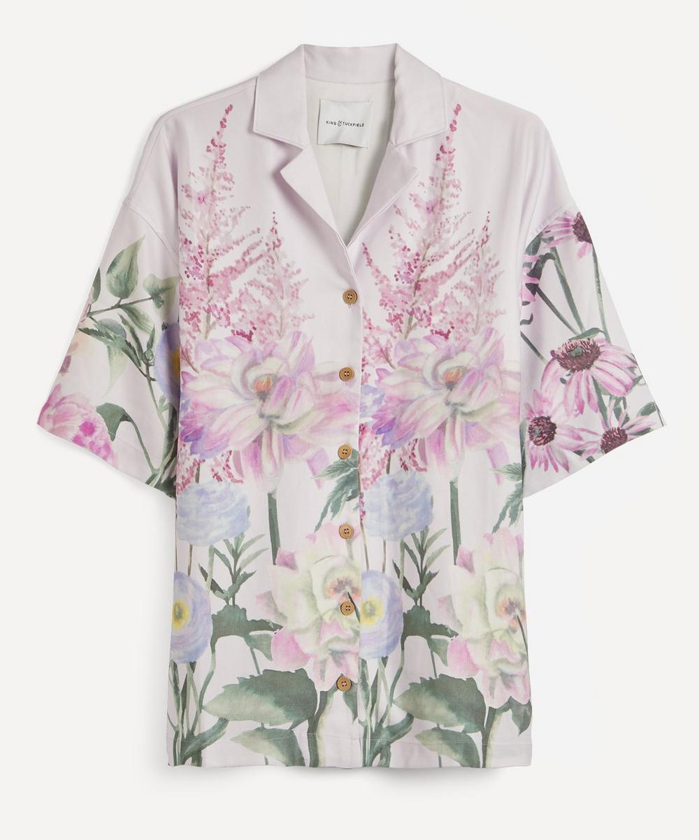 King & Tuckfield - Floral Painted Camp-Collar Shirt