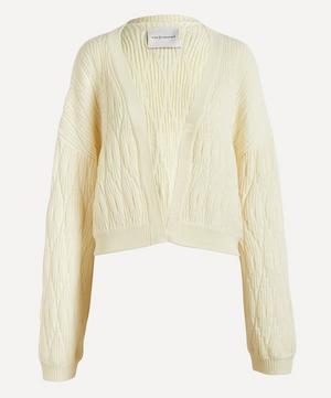 Cropped Merino Wool Cardigan