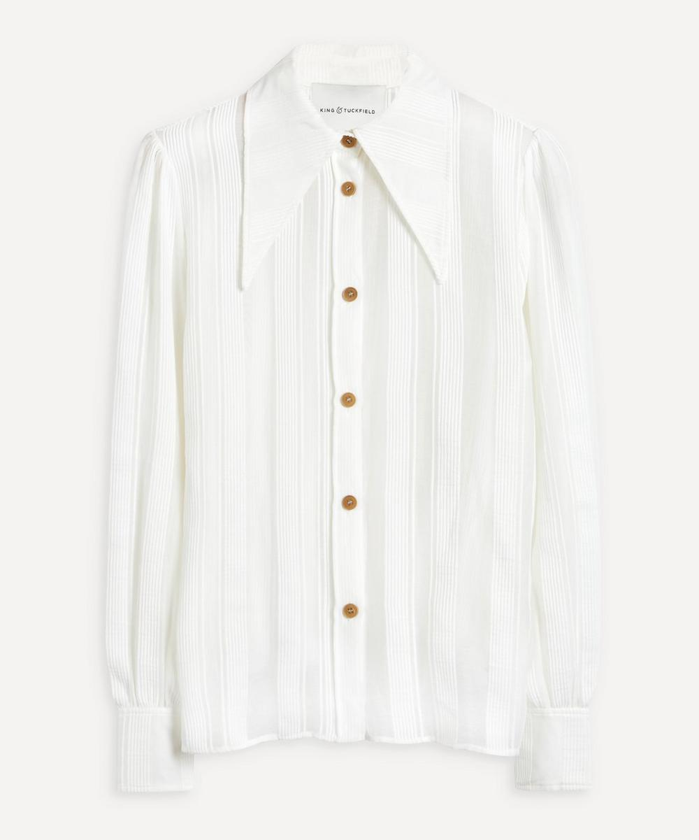 King & Tuckfield - Stripe Cotton-Silk Shirt