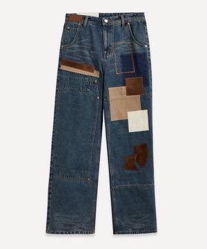 Bohemian Wide-Leg Patch Jeans