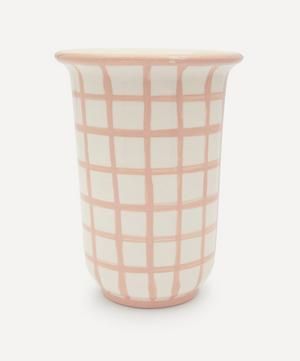 Gingham Utensils Holder