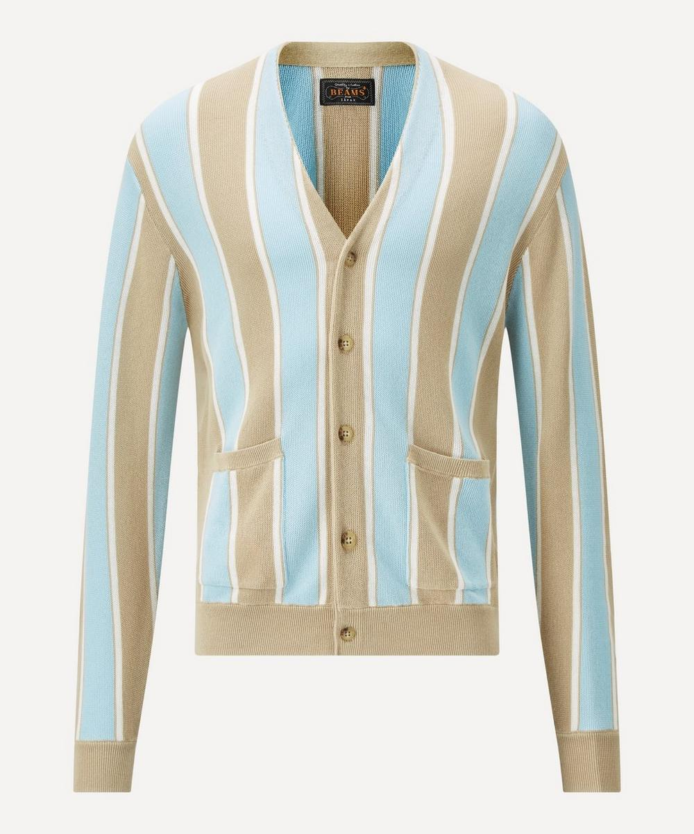 Beams Plus - Striped Cardigan image number 0