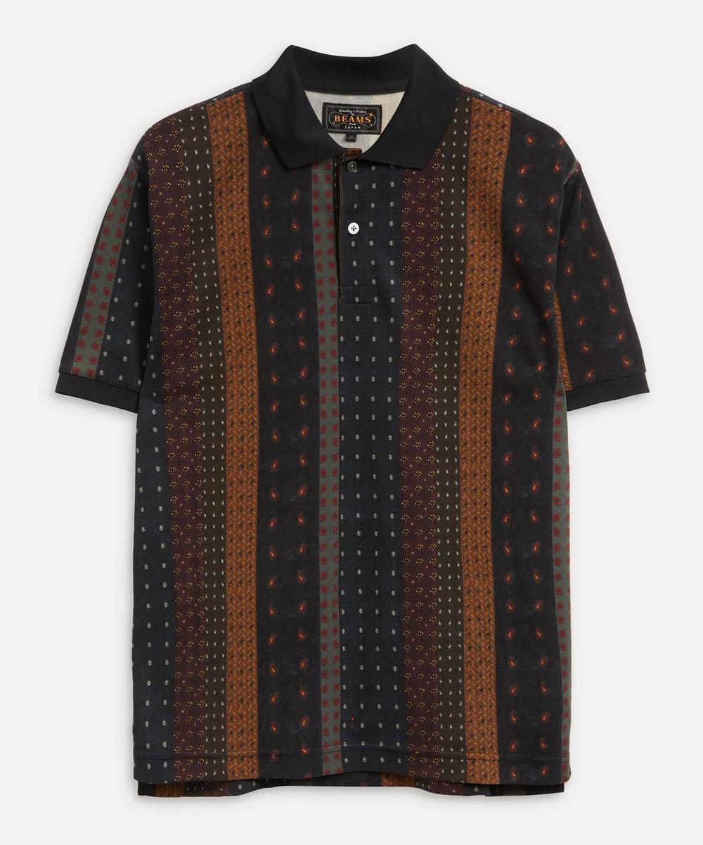 Beams Plus - Multi-Striped Polo Shirt