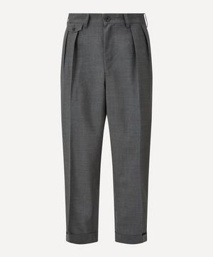 Two Pleat Tropical Wool Trousers