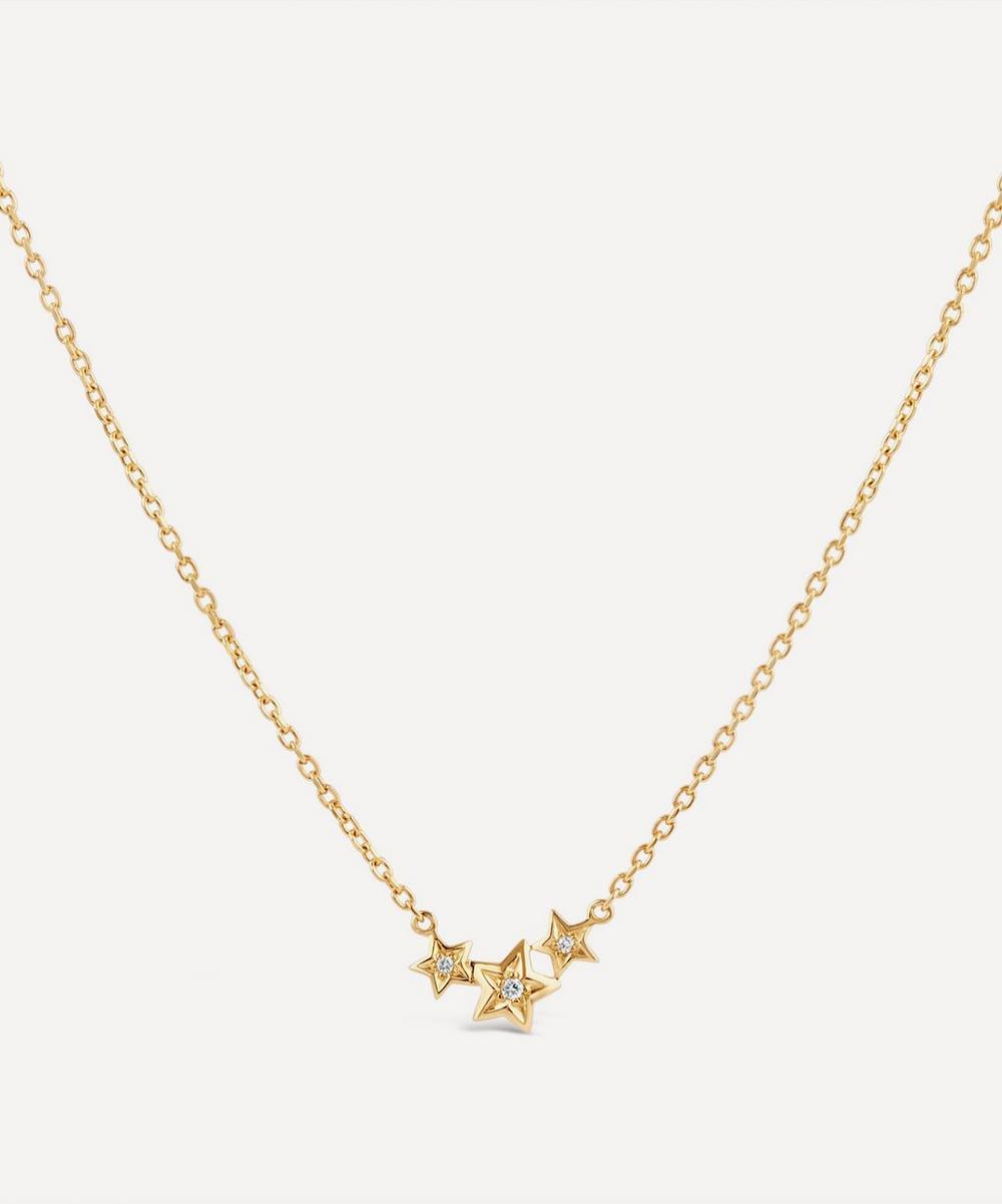 Dinny Hall - Gold Bijou Triple Diamond Star Pendant Necklace