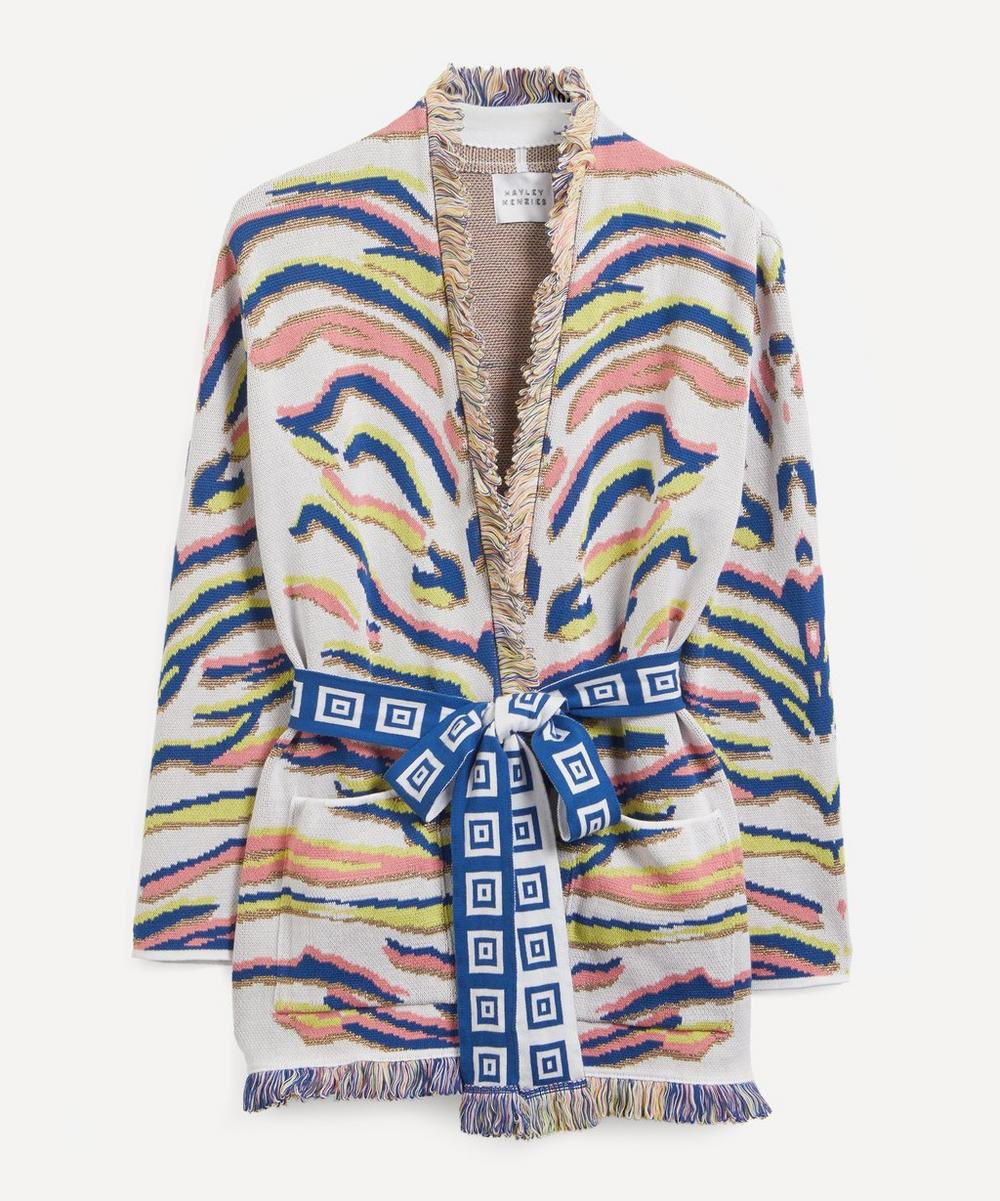 Hayley Menzies - Shimmering Tiger Jacquard Cardigan