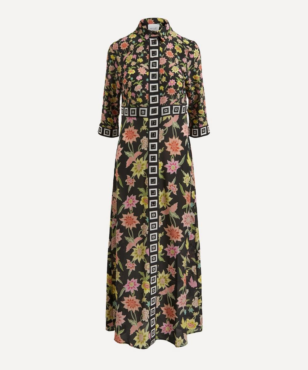 Hayley Menzies - Floral Print Silk Maxi-Dress