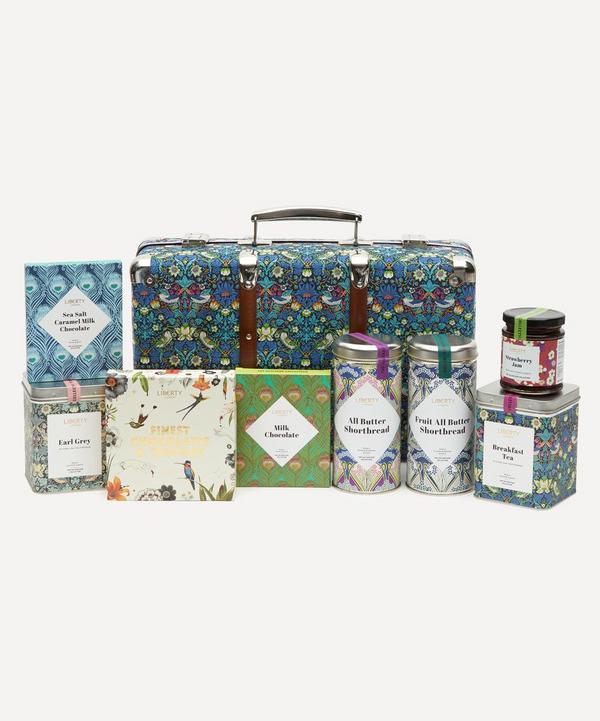 Liberty - Strawberry Thief Suitcase Picnic Hamper
