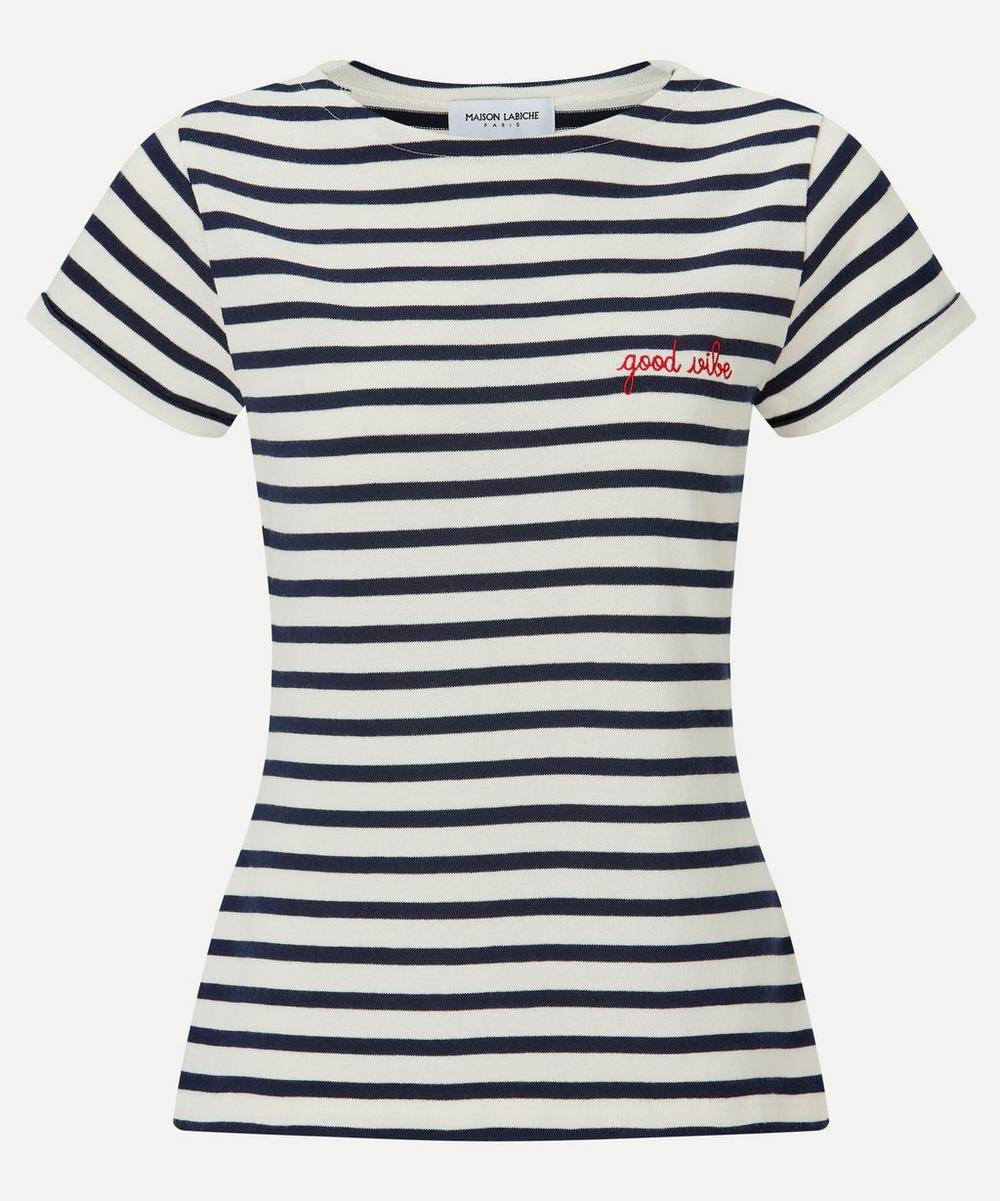 Maison Labiche - Good Vibe Sailor Striped Organic Cotton T-Shirt