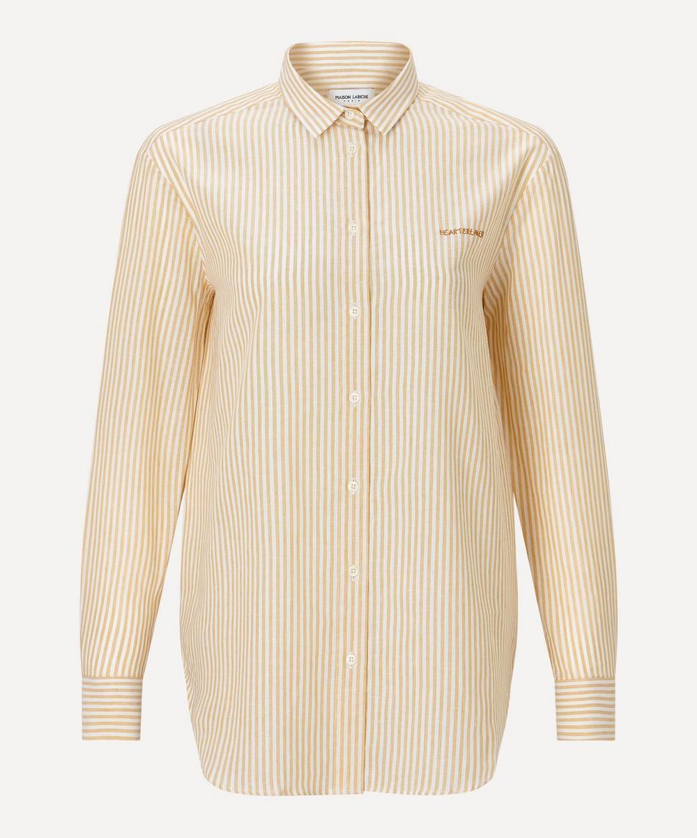 Maison Labiche - Heartbreak Linen-Cotton Boyfriend Shirt