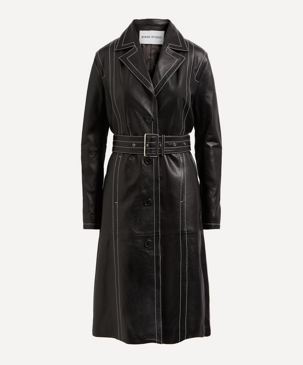 STAND STUDIO - Alvira Leather Trench Coat