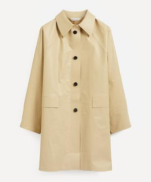 Above The Knee Coated Trench Coat