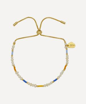 Gold-Plated Pearl and Colour Pop Beaded Bracelet