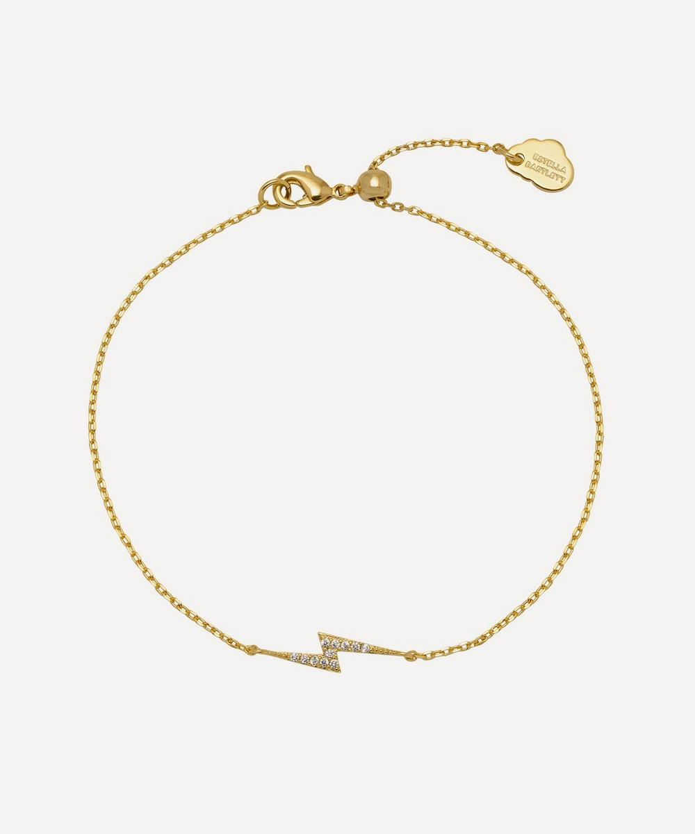 Estella Bartlett - Gold-Plated Cubic Zirconia Lightning Bolt Chain Bracelet