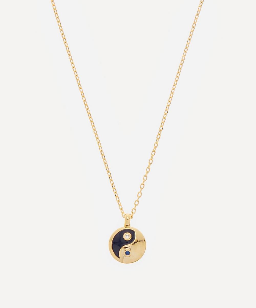 Estella Bartlett - Gold-Plated Yin Yang Cubic Zirconia Enamel Pendant Necklace