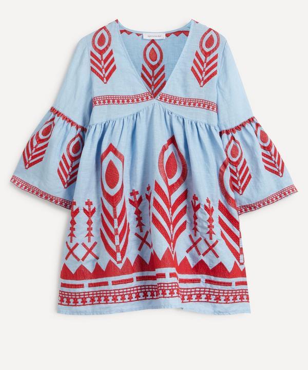 Kori - Feather Embroidered Mini-Dress