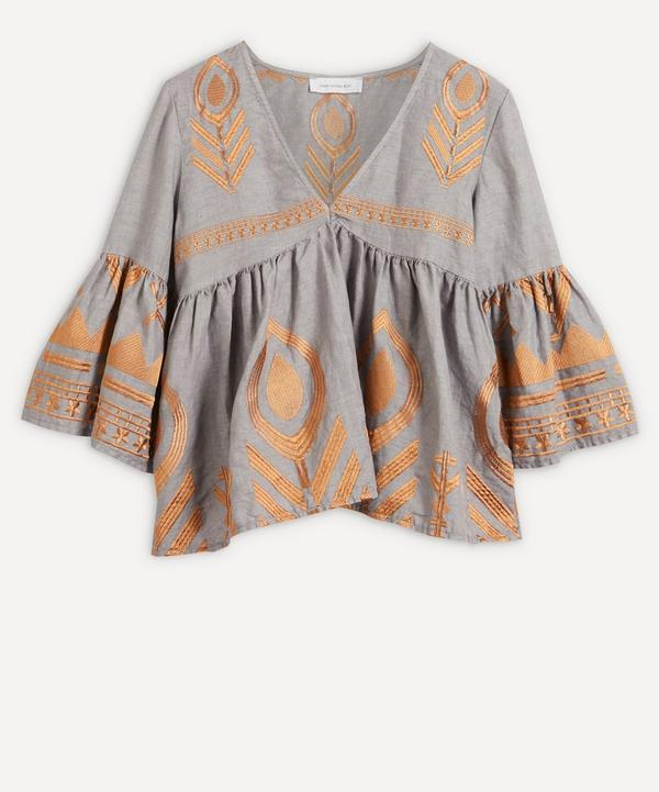 Kori - Feather Embroidered Top