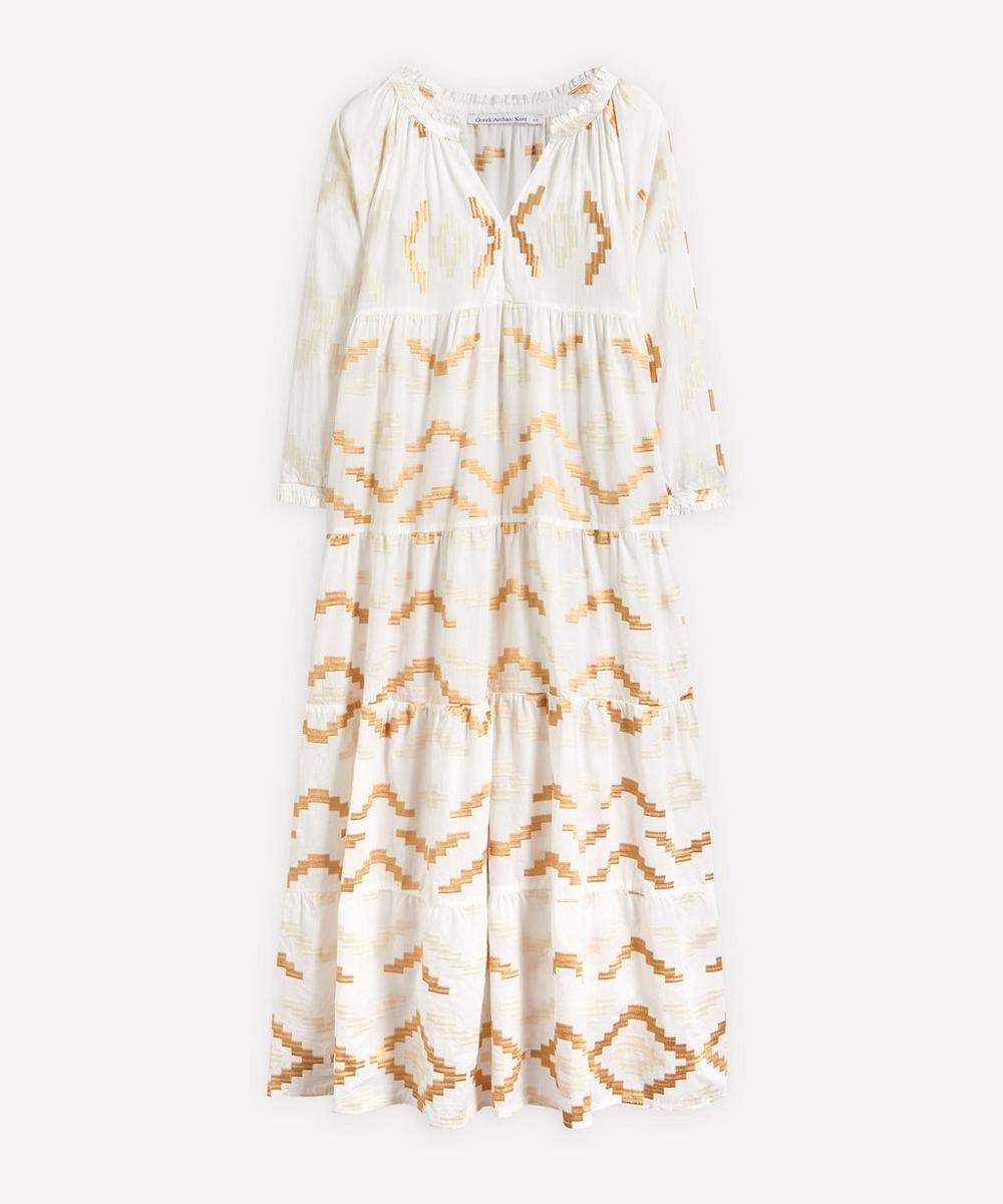Kori - Rhombus Embroidered Maxi-Dress