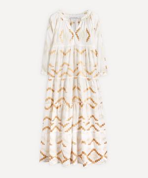 Rhombus Embroidered Maxi-Dress