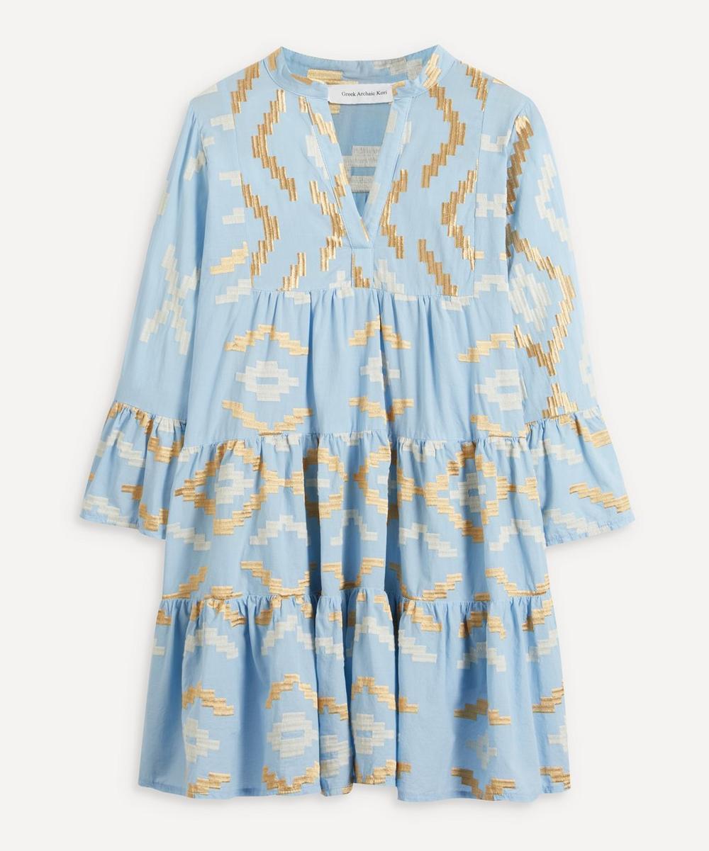 Kori - Rhombus Embroidered Mini-Dress