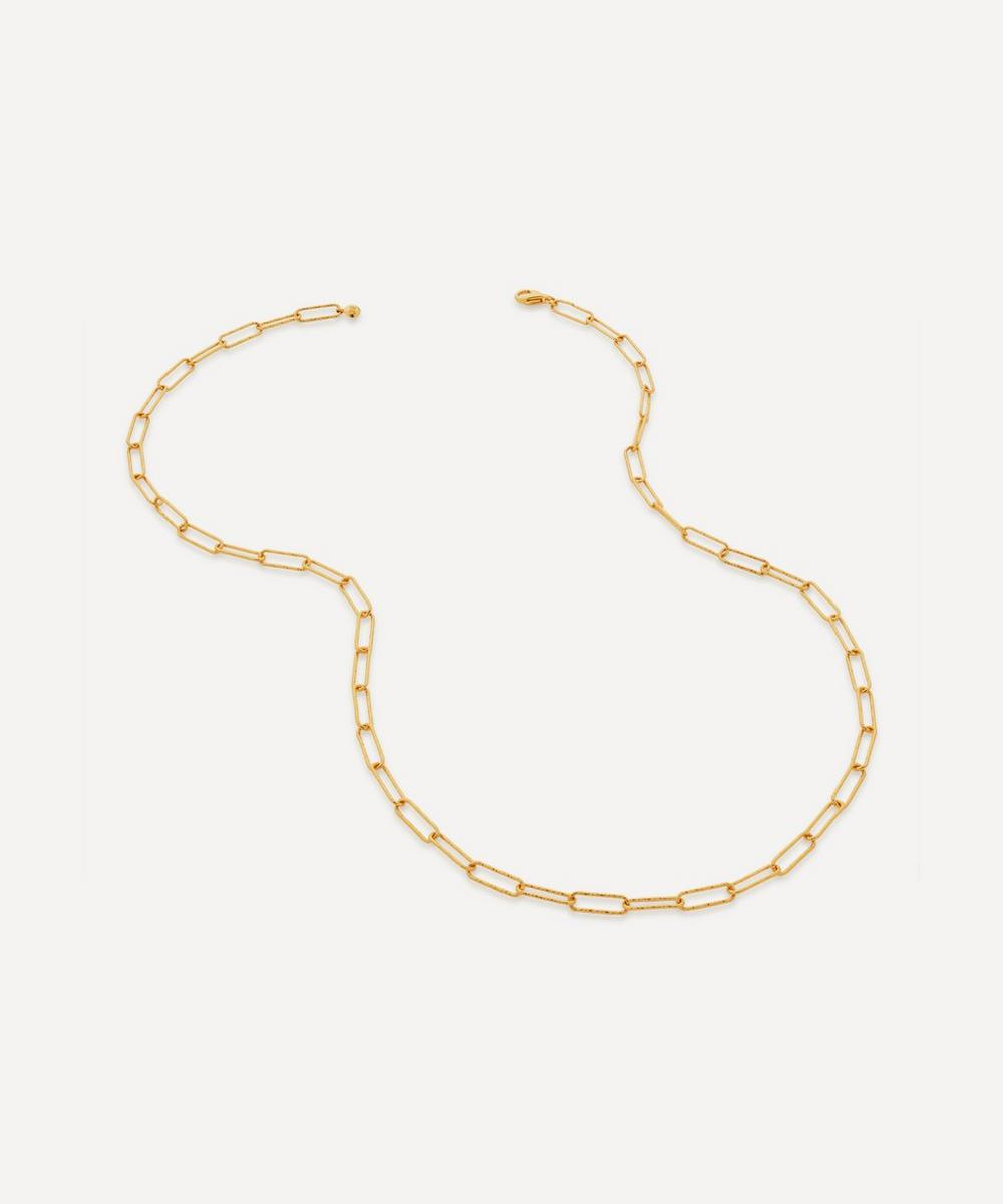 Monica Vinader - Gold Plated Vermeil Silver Alta Textured Chain Necklace