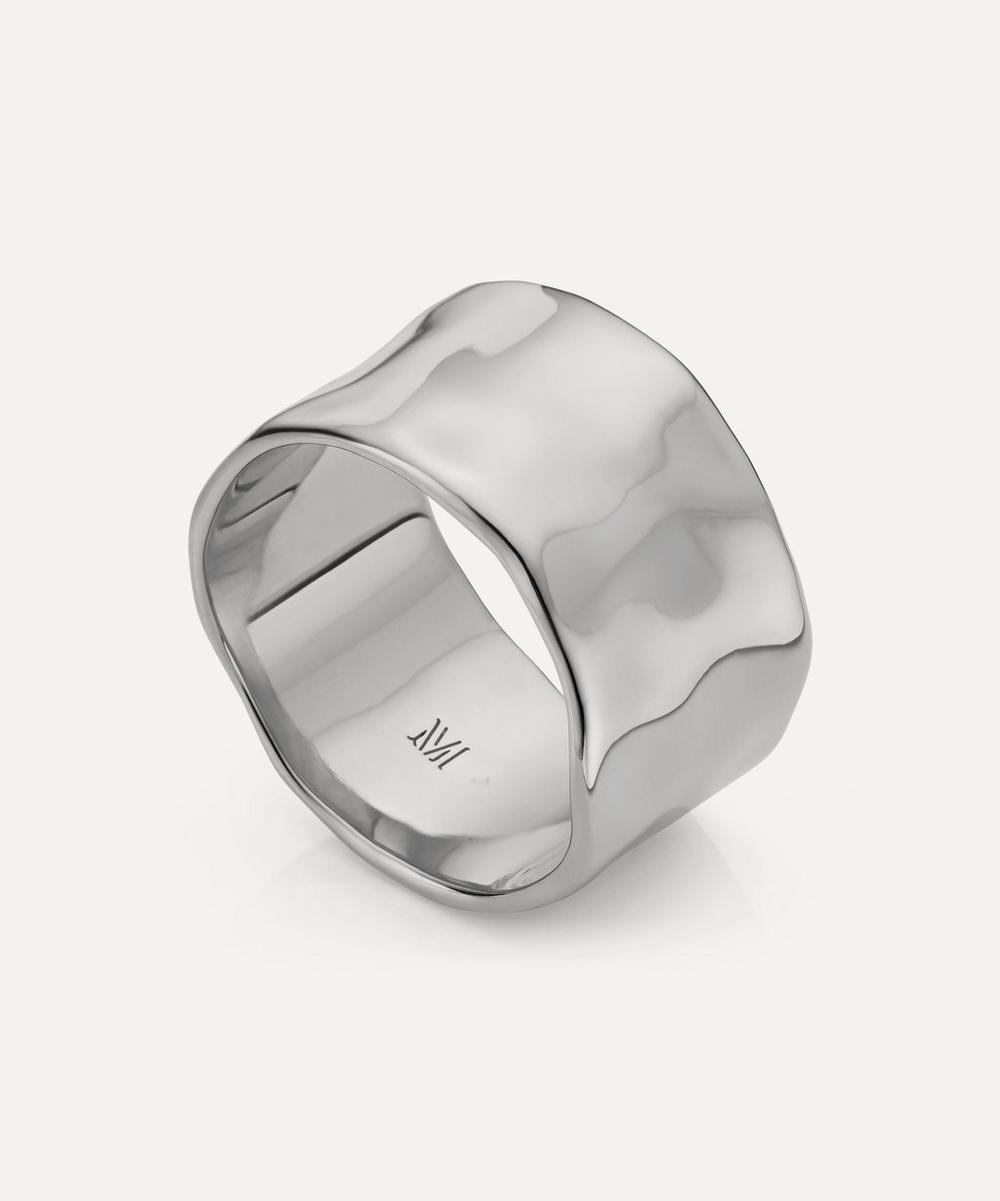 Monica Vinader - Silver Siren Muse Wide Band Ring