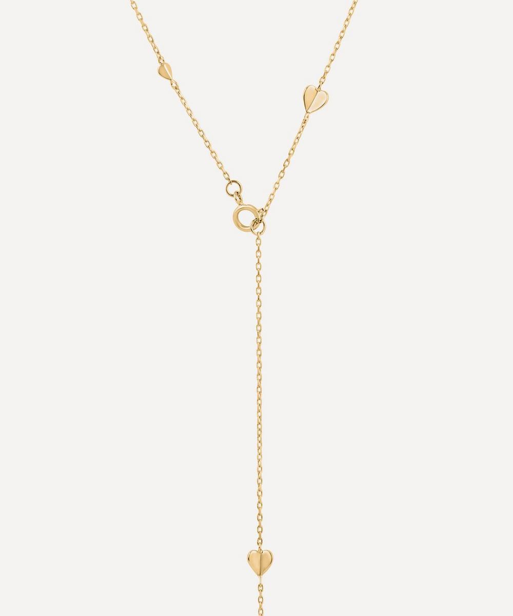 Dinny Hall - Gold Bijou Folded Heart Lariat Necklace