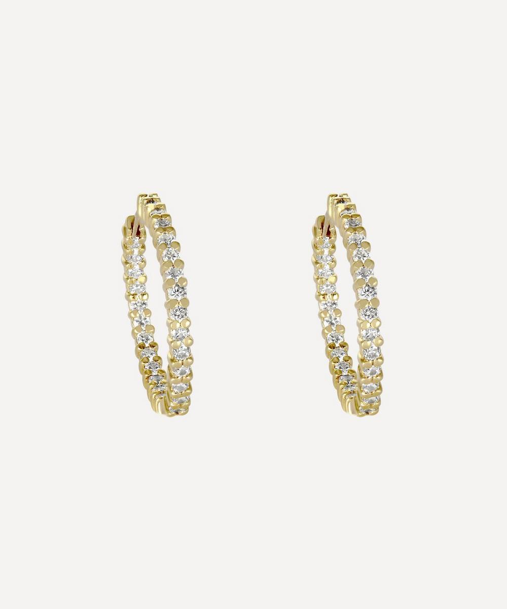 Kojis - Gold Diamond Hoop Earrings