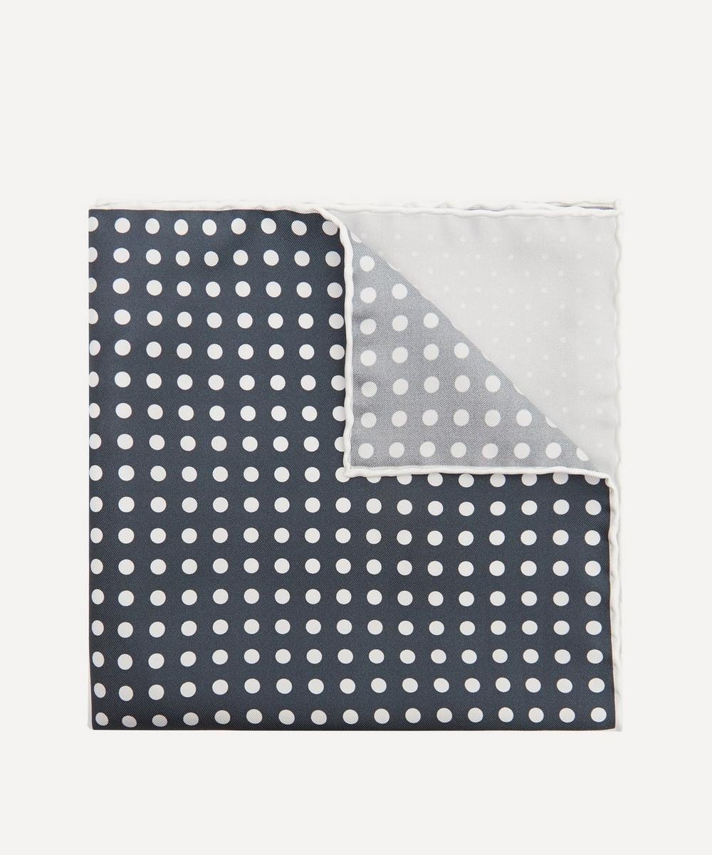 Lanvin - Polka-Dot Panelled Silk Pocket Square