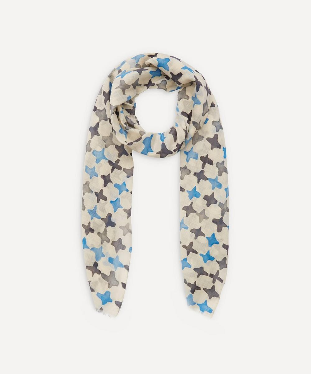 Lanvin - Lightweight Cross Pattern Cotton Scarf