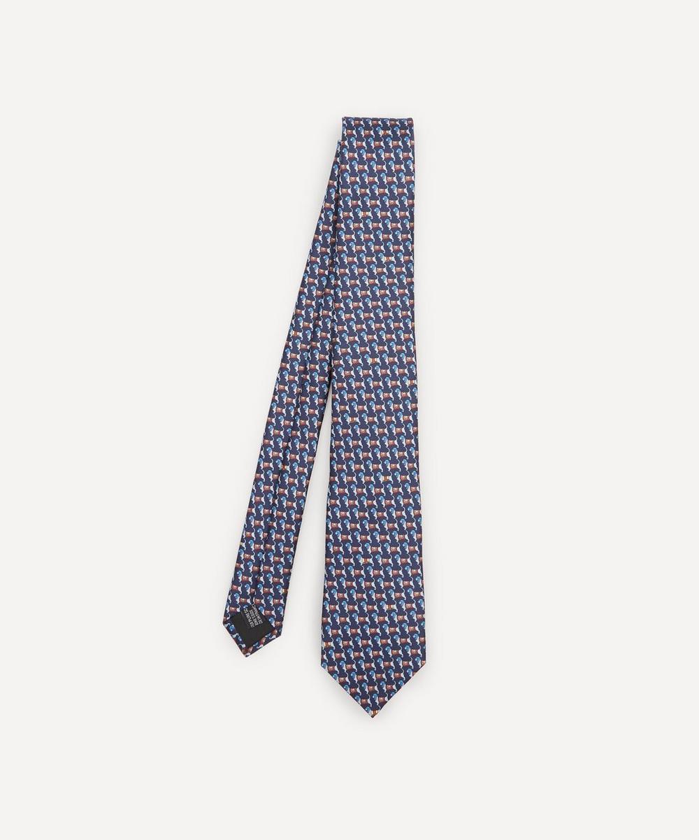 Lanvin - Mini Dog Woven Silk Tie
