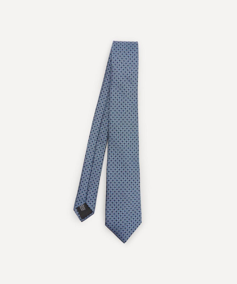 Lanvin - Circle Woven Silk Tie