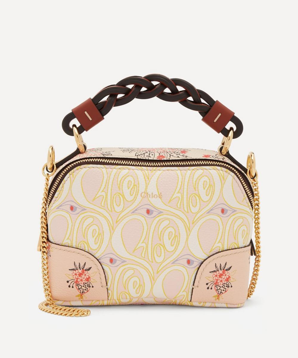 Chloé - Daria Mini Hearty Floral Print Leather Chain Handbag