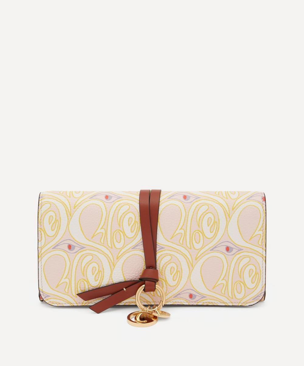 Chloé - Alphabet Long Hearty Floral Print Leather Wallet
