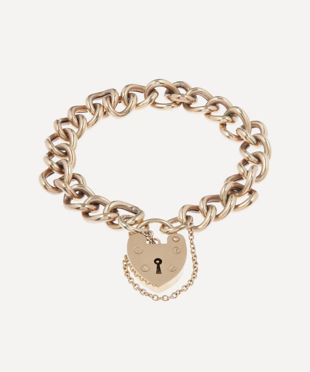 Annina Vogel - Antique Original Heart Padlock Gold Bracelet