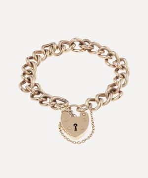 Antique Original Heart Padlock Gold Bracelet