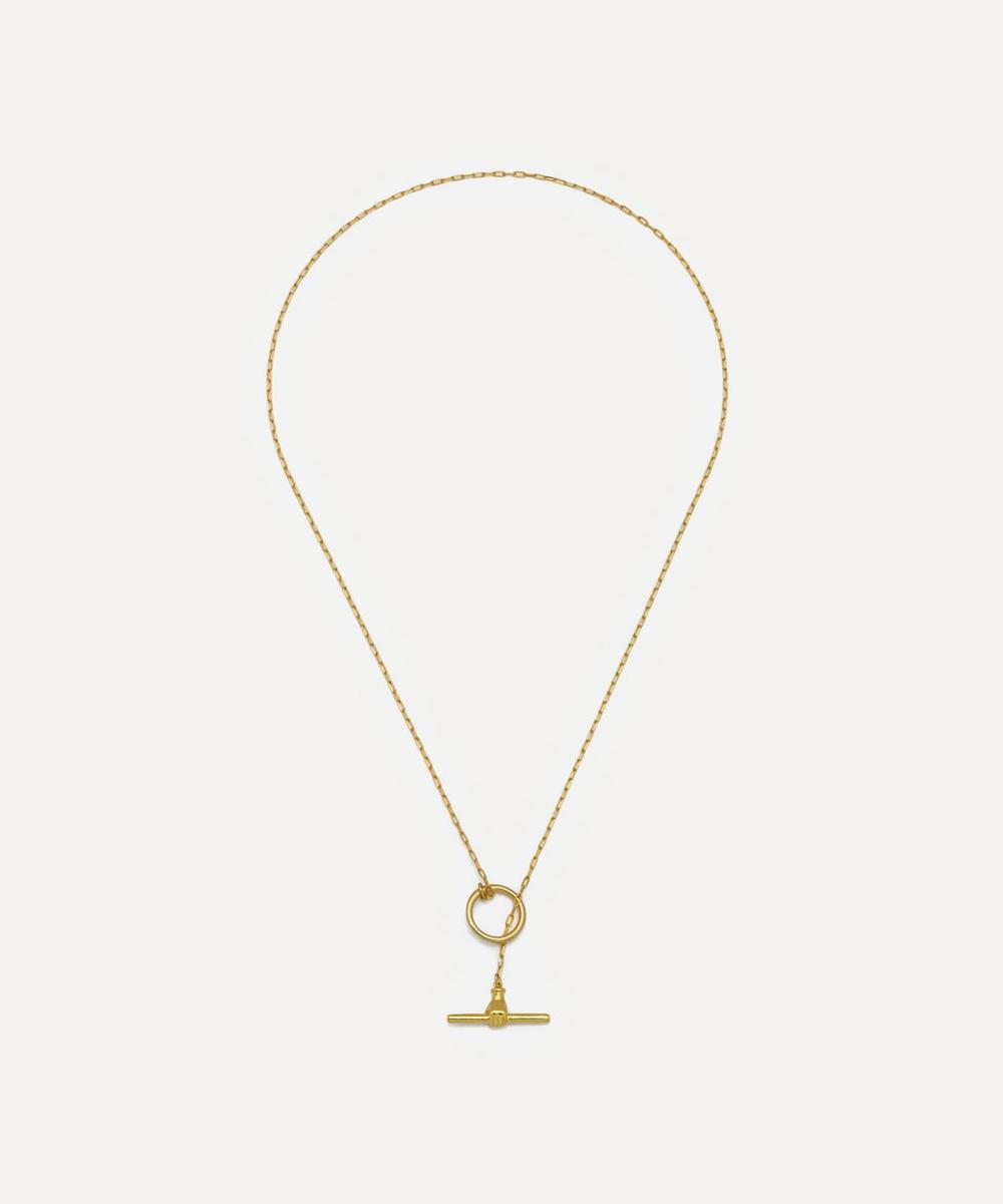 Estella Bartlett - Gold-Plated T-Bar Link Necklace