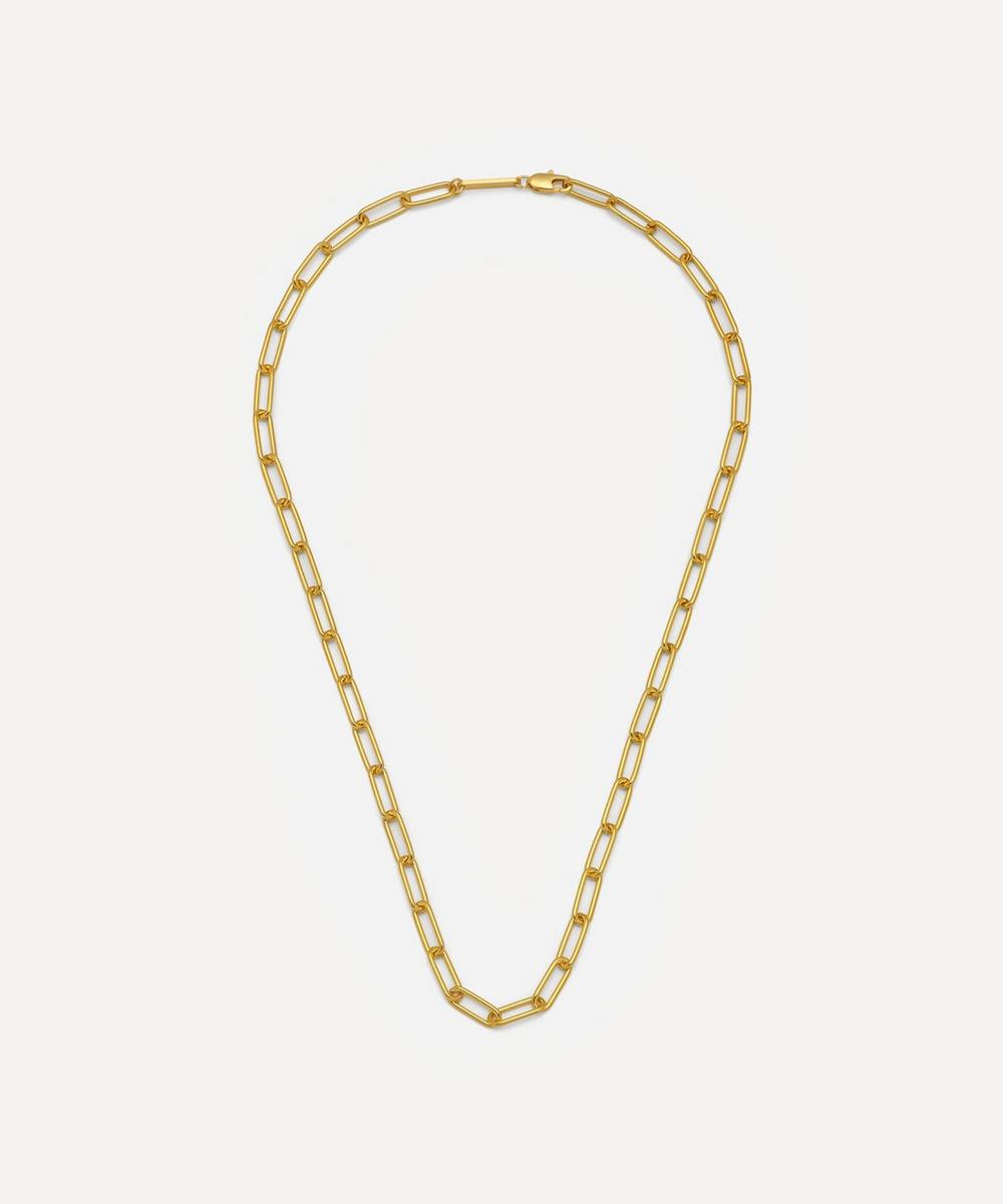 Estella Bartlett - Gold-Plated Paperclip Link Chain Necklace