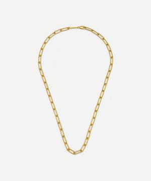 Gold-Plated Paperclip Link Chain Necklace