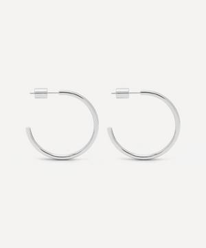 Silver-Plated Large Chunky Hoop Earrings